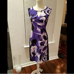 CK Flattering Purple,White & Black Sleeveless